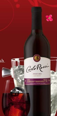 Carlo Rossi Sweet Red Wine On The Rocks The Food And