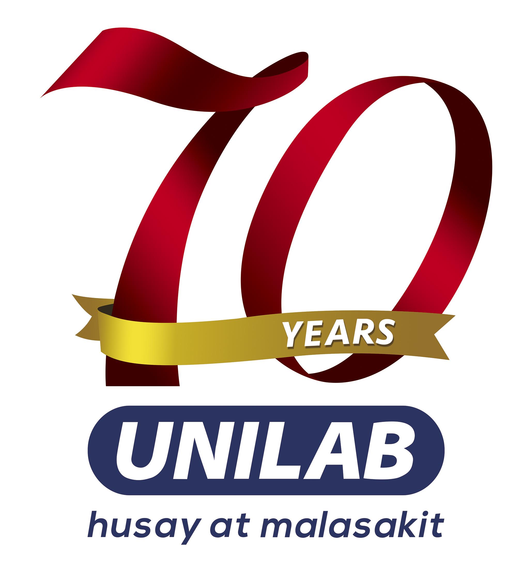 Unilab 70 Years Logo